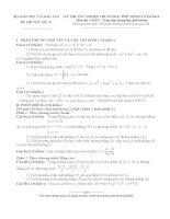 30 đề thi toán ôn tập thi tốt nghiệp thpt