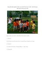 Sáng kiến kinh nghiệm mầm non môn thể dục lớp 3-4 tuổi – bài 9 bật qua dây,chuyền bóng sang 2 bên docx