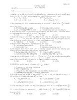 Kiểm Tra 45 phút Môn: Vật lý 12 - Mã đề 003 potx