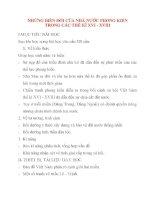 Giáo án Lịch Sử lớp 10: NHỮNG BIẾN ĐỔI CỦA NHÀ NƯỚC PHONG KIẾN TRONG CÁC THẾ KỈ XVI - XVIII potx