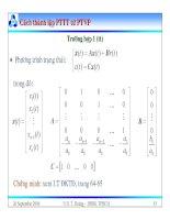 Bài giảng lý thuyết điều khiển tự động - Mô hình toán học, hệ thống điều khiển liên tục part 9 pps