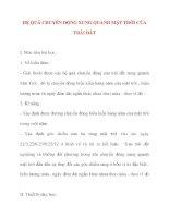 Giáo án Địa Lý lớp 10: HỆ QUẢ CHUYỂN ĐỘNG XUNG QUANH MẶT TRỜI CỦA TRÁI ĐẤT docx