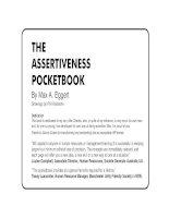 THE ASSERTIVENESS POCKET BOOK phần 1 pot