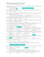 Đề thi trắc nghiệm môn hóa học lớp 12 pdf