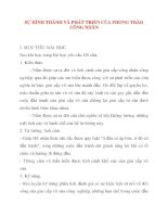 Giáo án Lịch Sử lớp 10: SỰ HÌNH THÀNH VÀ PHÁT TRIỂN CỦA PHONG TRÀO CÔNG NHÂN doc