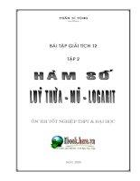 Bài tập giải tích 12 - Hàm số - Lũy thừa - Mũ - Logarit pdf