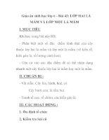 Giáo án sinh học lớp 6 - Bài 42: LỚP HAI LÁ MẦM VÀ LỚP MỘT LÁ MẦM ppt