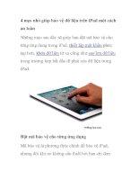 4 mẹo nhỏ giúp bảo vệ dữ liệu trên iPad một cách an toàn ppt