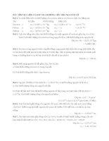 Bài tập tự luận và đáp án chương cấu tạo nguyên tử Hóa học 10