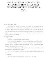 PHƯƠNG PHÁP GIẢI BÀI TẬP NHẬN BIẾT HÓA CHẤT MẤT NHÃN BẰNG TÍNH CHẤT HÓA HỌC pptx