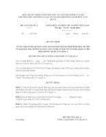 MẪU QUYẾT ĐỊNH CÔNG BỐ THỦ TỤC HÀNH CHÍNH CỦA BỘ TRƯỞNG/THỦ TRƯỞNG CƠ QUAN NGANG BỘ/TỔNG GIÁM ĐỐC 3 CƠ QUAN BỘ A/CƠ QUAN A doc