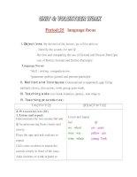 Giáo án Tiếng Anh lớp 11: UNIT 4: VOLUNTEER WORK-LANGUAGE FOCUS pot