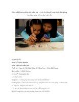 Sáng kiến kinh nghiệm lớp mầm non – một số đổi mới trong hình thức giảng dạy làm quen với văn học chữ viết pot
