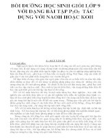 BỒI DƯỠNG HỌC SINH GIỎI LỚP 9 VỚI DẠNG BÀI TẬP P2O5 TÁC DỤNG VỚI NAOH HOẶC KOH ppsx