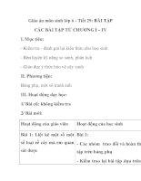 Giáo án môn sinh lớp 6 - Tiết 29: BÀI TẬP CÁC BÀI TẬP TỪ CHƯƠNG I – IV pot