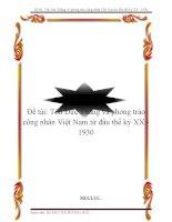 Đề tài: Tôn Đức Thắng và phong trào công nhân Việt Nam từ đầu thế kỷ XX - 1930 ppsx