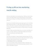 9 công cụ tối ưu hóa marketing truyền miệng pps