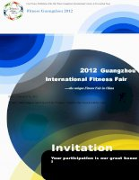Invitation--Fitness Guangzhou 2012 ppsx