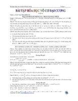 bài tập hóa học vô cơ đại cương lớp 12