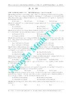 Đề ôn luyện thi môn hóa học - đề 2 pot