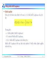 Bài giảng lý thuyết điều khiển tự động - Mô hình toán học, hệ thống điều khiển liên tục part 2 pdf