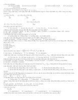Đề thi trắc nghiệm hóa học - đề 11 docx