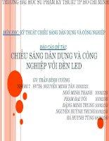 Chiếu sáng dân dụng và công nghiệp với đèn LED