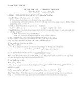 Đề thi toán 12 - THPT Vân Hội pot