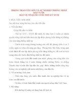 Giáo án Lịch Sử lớp 10: PHONG TRÀO TÂY SƠN VÀ SỰ NGHIỆP THỐNG NHẤT ĐẤT NƯỚC BẢO VỆ TỔ QUỐC CUỐI THẾ KỶ XVIII pps