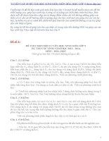 Tuyển tập 50 đề thi học sinh giỏi hóa học lớp 9 (kèm đáp án) phần 1
