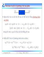 Bài giảng lý thuyết điều khiển tự động - Mô tả toán học hệ thống điều khiển rời rạc part 4 doc