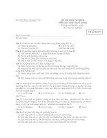 ĐỀ THI TRẮC NGHIỆM MÔN môn vật lý lớp 12 cơ bản - Mã đề thi 357 pps
