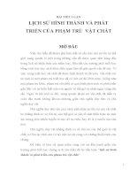 LỊCH SỬ HÌNH THÀNH CỦA PHẠM TRÙ VẬT CHẤT pdf