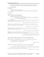 Chuyên đề ôn thi đại học - Chuyên đề phương pháp tọa độ trong mặt phẳng pptx