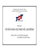 CƠ SỞ KHOA HỌC BẢO HỘ LAO ĐỘNG pptx