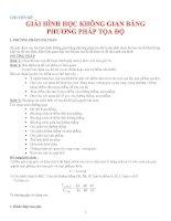 GIẢI HÌNH HỌC KHÔNG GIAN BẰNG PHƯƠNG PHÁP TỌA ĐỘ pdf