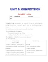 Giáo án Tiếng Anh lớp 11: UNIT 6: COMPETITION-READING doc