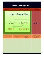 bài tập và bài giải chi tiết toán lũy thừa, bài tập mũ, bài tập logarit- bản màu đẹp