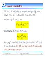 Bài giảng lý thuyết điều khiển tự động - Mô tả toán học hệ thống điều khiển rời rạc part 3 pdf