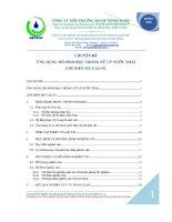 Ứng dụng hồ sinh học trong xử lý nước thải chế biến mủ cao su