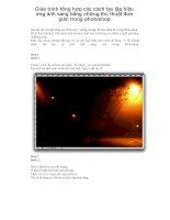 Giáo trình tổng hợp các cách tạo lập hiệu ứng ánh sáng bằng những thủ thuật đơn giản trong photoshop phần 1 pot