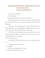 Giáo án Lịch Sử lớp 10: QUÁ TRÌNH HÌNH THÀNH VÀ PHÁT TRIỂN CỦA NHÀ NƯỚC PHONG KIẾN pps
