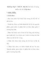 Sinh học lớp 9 - Tiết 25 - Bài 24: Đột biến số lượng nhiễm sắc thể (Tiếp theo) doc