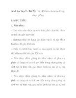 Sinh học lớp 9 - Bài 33: Gây đột biến nhân tạo trong chọn giống potx
