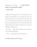 Hình hoc lớp 9 - Tiết 30: VỊ TRÍ TƯƠNG ĐỐI CỦA HAI ĐƯỜNG TRÒN pptx