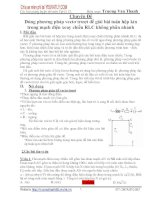 Dùng phương pháp vectơ trượt để giải bài toán hộp kín trong mạch điện xoay chiều RLC không phân nhánh ppsx
