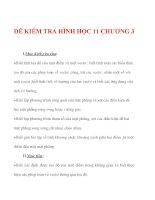 Giáo án Toán 12 ban cơ bản : Tên bài dạy : ĐỀ KIỂM TRA HÌNH HỌC 11 CHƯƠNG 3 pdf