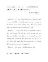 Hình hoc lớp 9 - Tiết 31: VỊ TRÍ TƯƠNG ĐỐI CỦA HAI ĐƯỜNG TRÒN ppsx