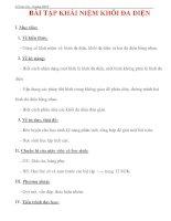 Giáo án Toán 12 ban cơ bản : Tên bài dạy : BÀI TẬP KHÁI NIỆM KHỐI ĐA DIỆN docx