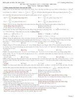 20 đề thi trắc nghiệm đại học môn lý có đáp án